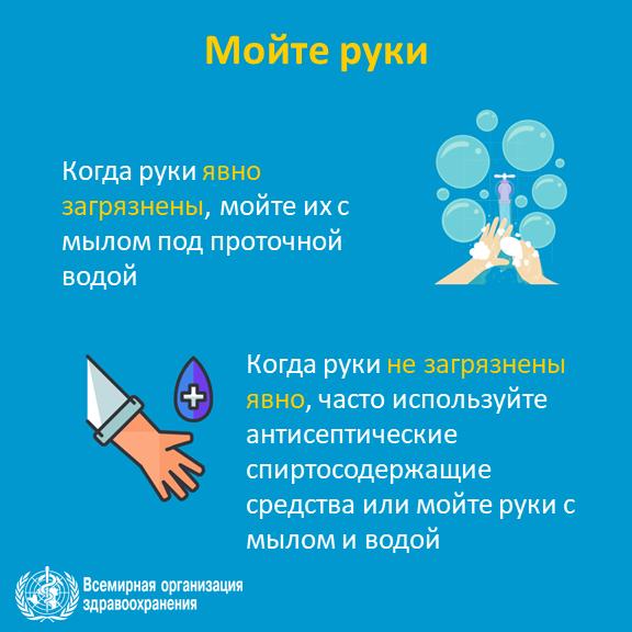 Защитите себя и окружающих от вирусов, мойте руки